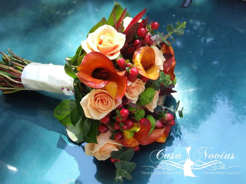 buchet-mireasa-cale-trandafiri-hypericum-santini